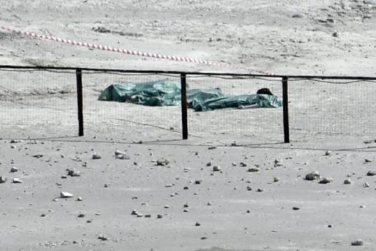 i corpi delle tre vittime della solfatara