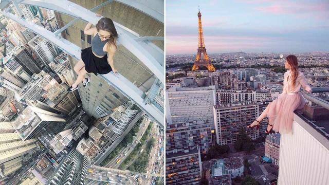 In Paris mit Blick auf den Eifelturm