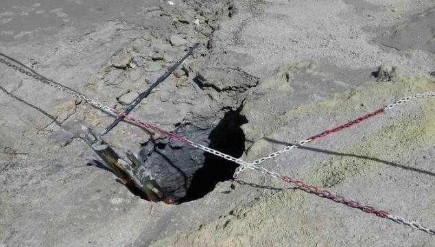 Solfatara, cratere dove sono state recuperte le salme