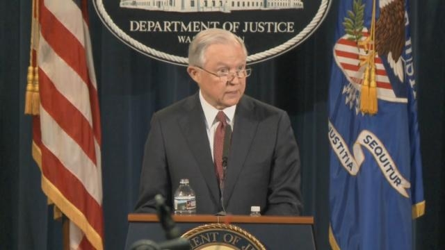Attorney General Jeff Sessions announces revoking DACA program / [Screenshot - Justice Department - YouTube: https://youtu.be/I3Lhl6Ru84c]