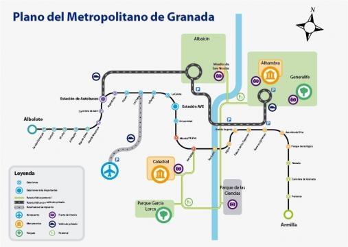 Plano del Metropolitano de Granada 1