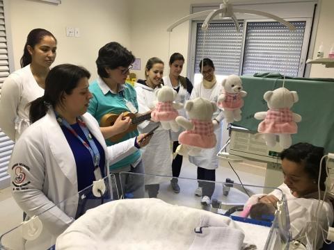 Equipe médica engajada no projeto