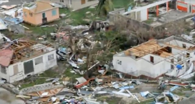 Barbuda saw 90% of its homes damaged by Hurricane Irma [Image: YouTube/aDDmoreJuice]