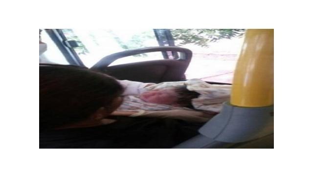 Imagem do bebê Davi, após o nascimento dentro do ônibus