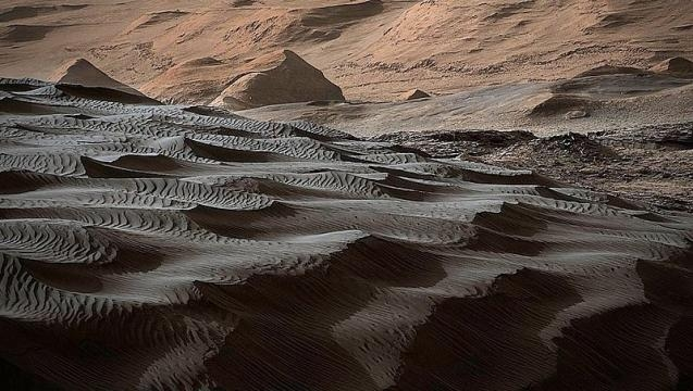 View of Gale Crater on Mars (Credit – Peter D. Tillman – wikimediacommons)