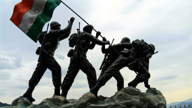 Indian army sculpture. Image credit stock photo from Pixabay.com