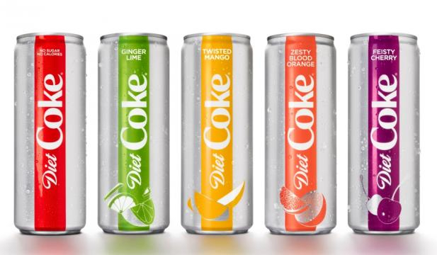 Diet Coke is changing up the design and adding new flavors! [Image via Coca Cola press]