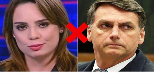 Jair Bolsonaro e Rachel Sheherazade estão em 'guerra'.