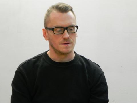 Łukasz Ronduda podczas spotkania w Ostrowcu Świętokrzyskim (fot. Krzysztof Krzak)