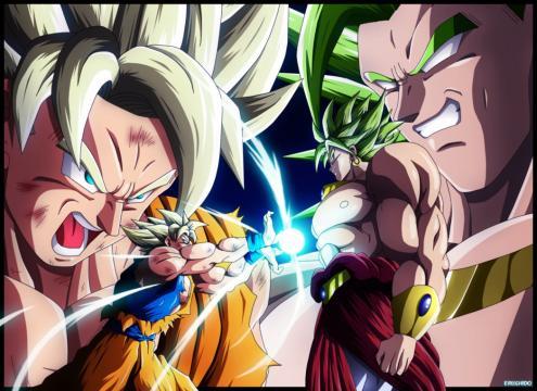 ¡A si se ve la fusión de Goku y Broly!