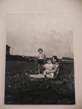 Obraz Karoliny M. Kowalskiej 'Robert's sister' (fot. Krzysztof Krzak)