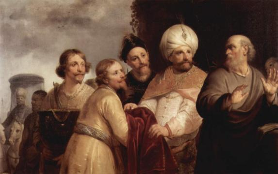 Eliseo rehusando los regalos de Naamán. Pieter Grebber, 1637. Museo Frans Hals, Haarlem