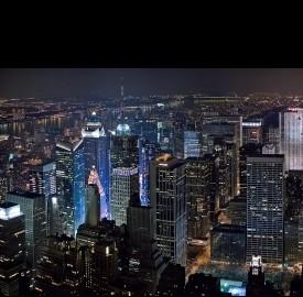 New York veduta notturna