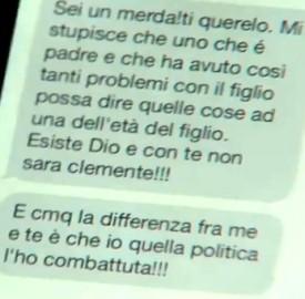 Messaggio Nunzia De Girolamo a Clemente Mastella