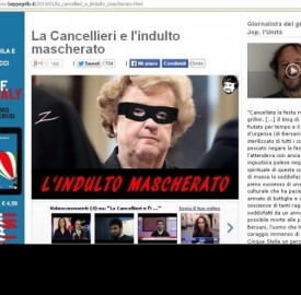 'Indulto mascherato', screenshot blog Beppe Grillo