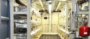 Dettaglio dell'interno di un Ecat industriale
