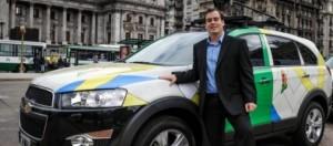 Los vehículos de Google que recorren Argentina.