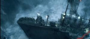 Óleo representando naufragio
