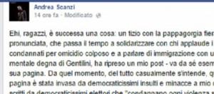Il giornalista Scanzi contro Salvini
