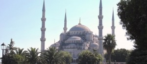 Mezquita Azul desde el parque de Sultanahmet