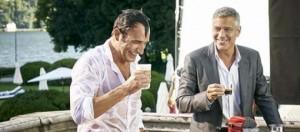 Jean Dujardin y George Clooney