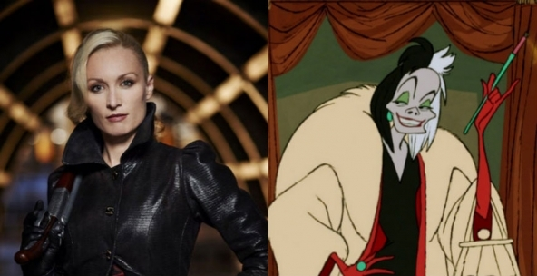 Victoria Smurfit é Cruella de Vil.