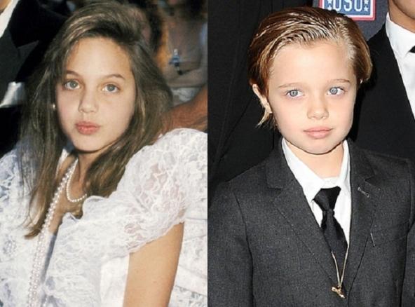 El parecido entre Angelina y Shiloh