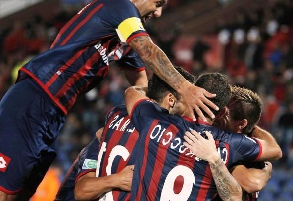 Festejo y emoción entre el equipo