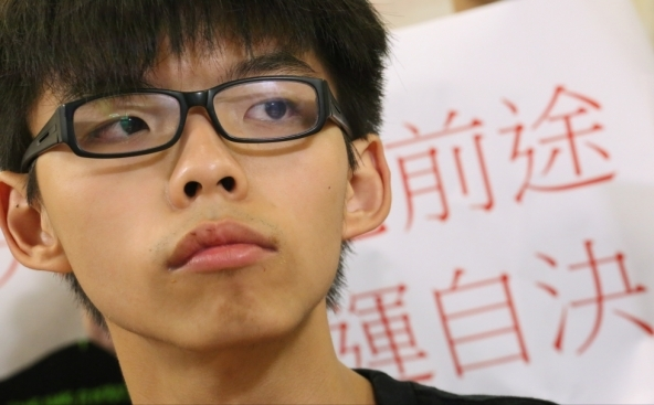Joshua Wong, fundador do movimento Scholarism.