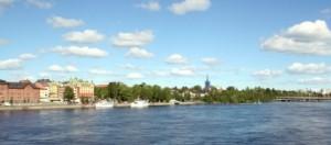 Il fiume Ume, che scorre per la città