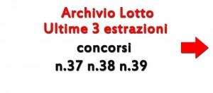 Estrazioni lotto oggi concorso n_37 n_38 n_39