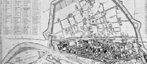 Ferrara, pianta della città rinascimentale