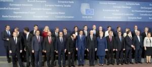 Premier Renzi alla riunione del Consiglio europeo