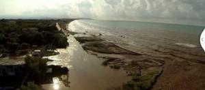 L'esondazione del Romondato, sul litorale di Rodi
