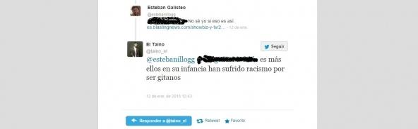Uno de los tuits de El Taino