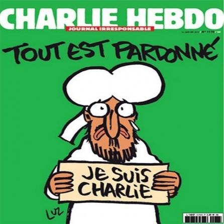 Charlie Hebdo: copertina di mercoledì prossimo