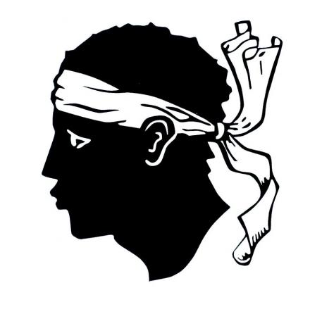 L'emblème du drapeau Corse : une tête de