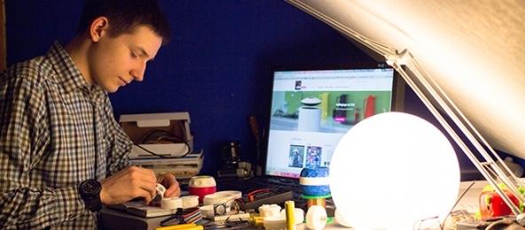 Michael working on VAGA HandEnergy