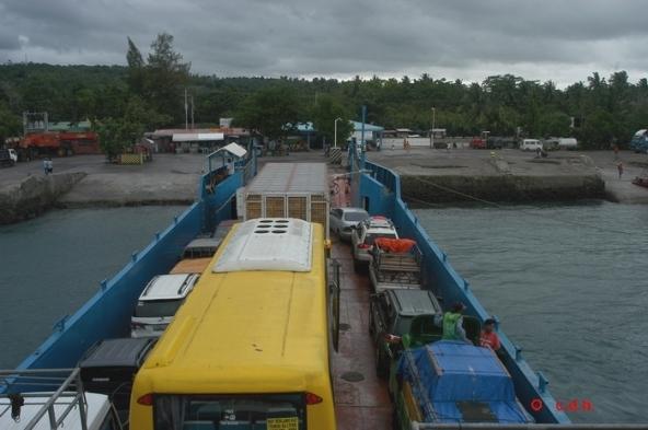 Le bus Cebu/ Dumaguete dans le ferry .