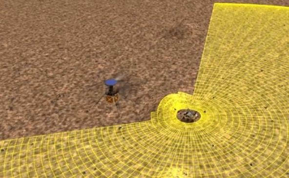 Drone amplia a visão do Rover-1