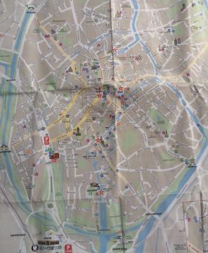 Mapa de la Ciudad de Brujas