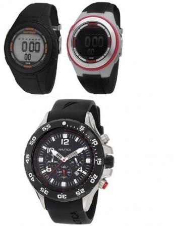 Relógios esportivos - pulseira de borracha