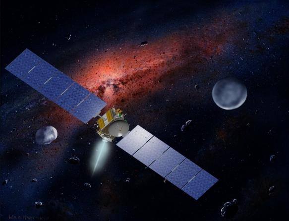 visita de Dawn a Ceres e Vesta