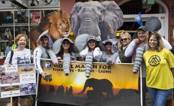 Global March for Elephants in New Orleans