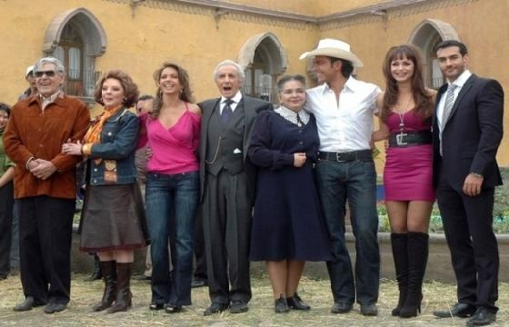 Parte do elenco da novela 'A Dona'
