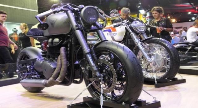Triumph Bonneville T100 vencedora.