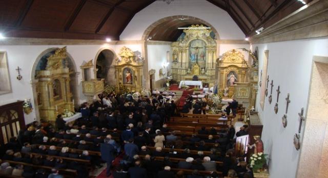 Aspeto do interior da Igreja Paroquial de Belinho