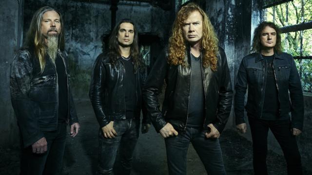 Os Megadeth em 2015, na iminência do novo álbum