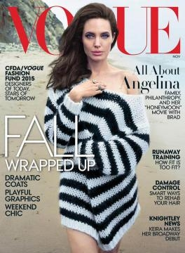 Angelina Jolie, Vogue Magazine.