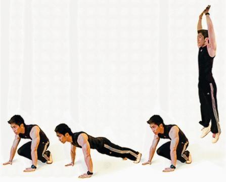 O Burpee é um dos melhores exercícios no HIIT